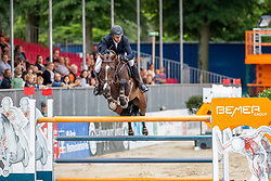 RENZEL Markus (GER), CASSCORD<br /> Münster - Turnier der Sieger 2019<br /> BRINKHOFF'S NO. 1 -  Preis<br /> CSI4* - Int. Jumping competition  (1.50 m) -<br /> 1. Qualifikation Grosse Tour <br /> Large Tour<br /> 02. August 2019<br /> © www.sportfotos-lafrentz.de/Stefan Lafrentz