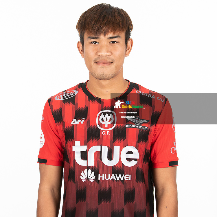 THAILAND - MARCH 06: Wisarut Imura #37 of True Bangkok United on March 06, 2019.<br /> .<br /> .<br /> .<br /> (Photo by: Naratip Golf Srisupab/SEALs Sports Images/MB Media Solutions)