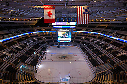 Dec 1, 2011; San Jose, CA, USA; General view of the interior of HP Pavilion before the game between the San Jose Sharks and the Montreal Canadiens.  Mandatory Credit: Jason O. Watson-US PRESSWIRE