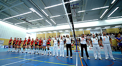 17-04-2011 VOLLEYBAL: FINAL VC WEERT - HEUTINK POLLUX: WEERT<br /> Lineup VC Weert <br /> &copy;2011 Ronald Hoogendoorn Photography