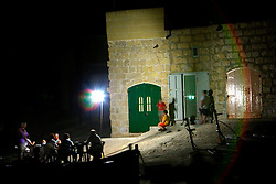 MALTA GOZO DWEJRA 22JUL06 - Night scene on the shore of the Inland Sea, a landlocked body of seawater connected to the Mediterranean via a tunnel in the towering cliff face. ..jre/Photo by Jiri Rezac..© Jiri Rezac 2006..Contact: +44 (0) 7050 110 417.Mobile: +44 (0) 7801 337 683.Office: +44 (0) 20 8968 9635..Email: jiri@jirirezac.com.Web: www.jirirezac.com