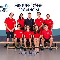 GROUPE D'ÂGE PROVINCIAL