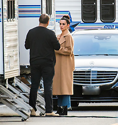 EXCLUSIVE: Penelope Cruz and Ricky Martin are seen on set of 'Versace: American Crime Story' in Los Angeles. The Limited Series has come under fire since it aired, the Versace family publicly denouncing the production. On a lighter note, one of the stars of the show, Ricky Martin just announced that he has married longtime partner, Jwan Yosef. 10 Jan 2018 Pictured: Penelope Cruz. Photo credit: MEGA TheMegaAgency.com +1 888 505 6342