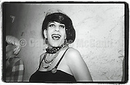 1989:  A portrait of drag queen Hapi Phace  at Wigstock, an annual outdoor drag festival in Thompkins Square Park in New York City.