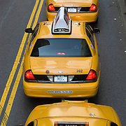 Taxis on Park Avenue in Midtown Manhattan