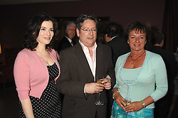Left to right, the hon.nigella lawson, The HON.DOMINIC & the HON.ROSA LAWSON she was a close friend of the late Diana, Princess of Wales at a party to celebrate the publication of Nain Attallah's book'Fulfilment & Betrayal' held at The Bluebird, King's Road, London on 1st May 2007.<br />