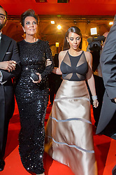 61147047<br /> Kim Kardashian and her mother Kris Jenner attend the traditional Vienna Opera Ball (Wiener Opernball), Vienna State Opera, Vienna, Austria, Thursday, 27th February 2014. Picture by  imago / i-Images<br /> UK ONLY