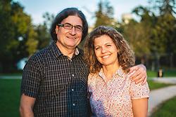 Portrait of Sonja and Dušan, on September 11, 2020 in Radenci, Slovenia. Photo by Blaž Weindorfer / Sportida