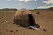 Hut near village of Orupembe, northwest, Namibia