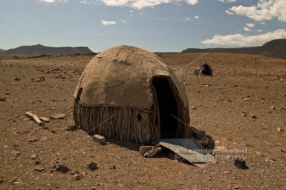 Hut near village of Orupembe, northwest, Namibia