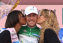 David Garcia da Pena (ESP) of Team Xacobeo Galicia won the Green jersey for mountain rider at 2nd stage of 92nd Giro d'Italia in Trieste, on May 10, 2009, in Trieste, Italia.  (Photo by Vid Ponikvar / Sportida)