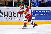 2019-12-02 | Umeå, Sweden:Mora (36) Niklas Fogström in  HockeyAllsvenskan during the game  between Björklöven and Mora at A3 Arena ( Photo by: Michael Lundström | Swe Press Photo )<br /> <br /> Keywords: Umeå, Hockey, HockeyAllsvenskan, A3 Arena, Björklöven, Mora, mlbm191202