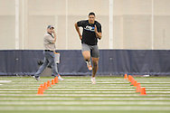 Mississippi football player Gerald Harris at Pro Day in the IPF in Oxford, Miss. on Tuesday, March 23, 2010.