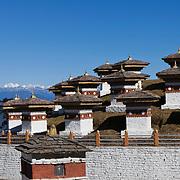 Druk Wangyal Chortens at Dochula on Thimphu-Punakha road, Bhutan, Asia