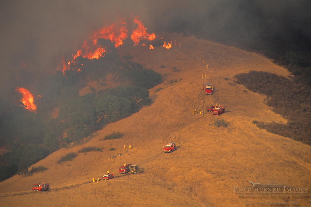 400 acre wildfire near Mt. Diablo, Contra Costa County, CALIFORNIA