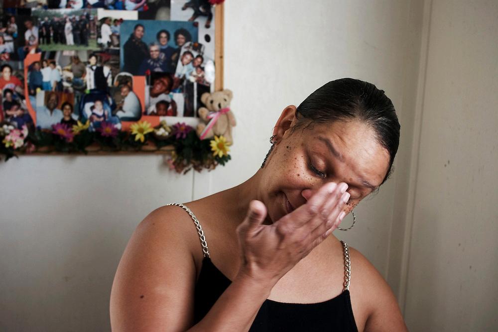 Erick Daniels' mother, Karen Daniel, prior to his release.