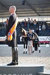 Hanzon Theo, (NED), Helena vh Goorhof<br /> Glock Prijs Lichte Tour Finale<br /> Dutch Championship Dressage - Ermelo 2015<br /> © Hippo Foto - Dirk Caremans<br /> 18/07/15