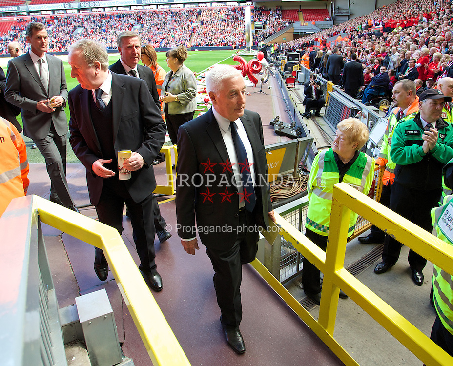 LIVERPOOL, ENGLAND - Tuesday, April 15, 2014: Former Liverpool manager Roy Evans during the 25th Anniversary Hillsborough Service at Anfield. (Pic by David Rawcliffe/Propaganda)