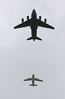 C-17 Globemaster, BAE146, RAF100 Parade and Flypast, The Mall & Buckingham Palace, London, UK, 10 July 2018, Photo by Richard Goldschmidt, Royal Air Force Centenary parade and flypast of RAF aircraft over London.