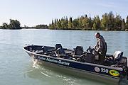 Mike Hopley at Alaska Adventure Charters, Kenai River, Alaska, USA