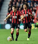 Ryan Fraser (24) of AFC Bournemouth and Nathan Ake (5) of AFC Bournemouth on the attack during the Premier League match between Bournemouth and Watford at the Vitality Stadium, Bournemouth, England on 12 January 2020.