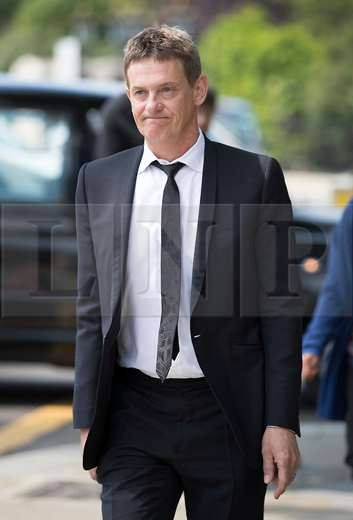 © Licensed to London News Pictures. 22/05/2018. London, UK. Matthew Wright attends the funeral of television presenter Dale Winton at Commonwealth Church in Marylebone, London. Dale Winton, who was found dead at his home on April 18, was famous for presenting Supermarket Sweep and National Lottery game show. Photo credit: Peter Macdiarmid/LNP