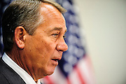 Speaker of the House, John Boehner (R-OH), speaks to the media at the U.S. Capitol on Wednesday following a meeting of the House Republican Conference. Boehner said that the House of Representatives will vote yet again on Wednesday to repeal the Affordable Care Act commonly known as Obamacare.
