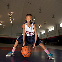 March 19, 2013  - Orlando, FL .Basketball sensation Julian Newman is a fifth-grade phenom already playing for the varsity team at Downey Christian School in Florida..Photo by Preston Mack / Redux