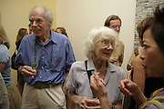ALBERT IRVIN AND BETTY IRVIN, Gimpel Fils 60th Anniversary Exhibition. Davies St. London. 27 July 2006. ONE TIME USE ONLY - DO NOT ARCHIVE  © Copyright Photograph by Dafydd Jones 66 Stockwell Park Rd. London SW9 0DA Tel 020 7733 0108 www.dafjones.com