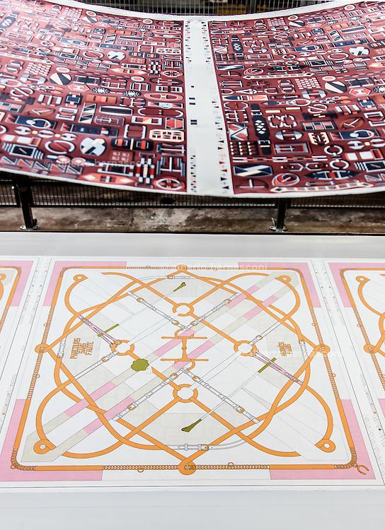 Lyon, Atelier Hermès, silk atelier at Pierre-Benite