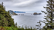 Taken from Cape Meares, southernly view of the sea stacks at Oceanside, Oregon and Cape Lookout further south on the horizon