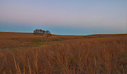 Dawn light with the earth shadow at the Tall Grass Prairie Preserve, Kansas