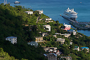 The cruise ship Aida anchored at Road Town harbour.