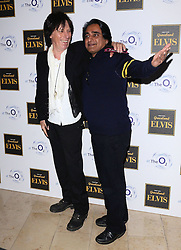 Jeff Beck and Sanjeev Bhaskar attends Elvis At The O2 Gala Night at The O2, Peninsula Square, London on 15th December 2014