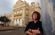 Howard Marks aka &quot;Mr Nice&quot; RIP, here in Cartagena, Colombia on the Caribbean sea in 2006.<br /> Welshman Howard Marks, a former large-scale marijuana smuggler, convicted felon and bestselling author of &quot;Mr Nice&quot; was in town to research and write about Cartagena and its past with the Caribbean pirates.