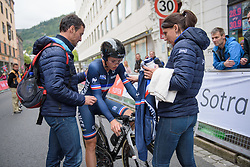 Audrey Cordon-Ragot recovers after UCI Road World Championships Elite Women's Individual Time Trial 2017 a 21.1 km time trial in Bergen, Norway on September 19, 2017. (Photo by Sean Robinson/Velofocus)