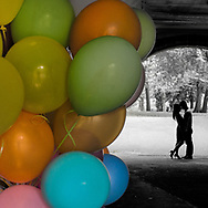 Balloon under the Trefoil Arch in Central Park