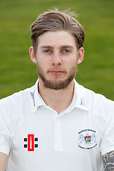 Chris Dent of Gloucestershire Cricket poses for a headshot in the County Championship kit - Mandatory byline: Rogan Thomson/JMP - 04/04/2016 - CRICKET - Bristol County Ground - Bristol, England - Gloucestershire County Cricket Club Media Day.