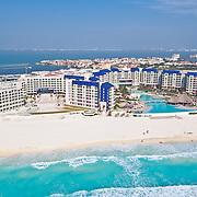 Aerial View of the Westin Laguna Mar Hotel.<br /> Cancun, Quintana Roo. Mexico