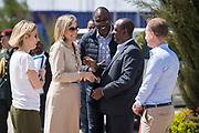Koningin Maxima tijdens een rondetafelgesprek met ontwikkelingpartners in Addis Abeba  Ethiopië waar de koningin is voor een tweedaags werkbezoek voor de Verenigde Naties. <br /> <br /> Queen Maxima during a round table discussion with development partners in Addis Ababa Ethiopia where the queen is for a two-day working visit to the United Nations.
