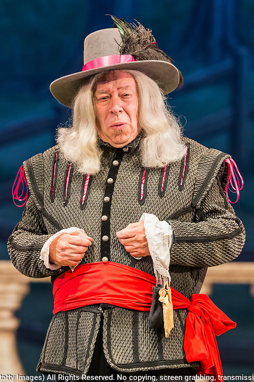 Dress rehearsal of Haddon Hall performed by the National Gilbert &amp; Sullivan Opera Company in Buxton Opera House, Buxton, England on Thursday 02 August 2018 Photo: Jane Stokes<br /> <br /> DIRECTOR/Sarah Helsby Hughes<br /> CONDUCTOR/Andrew Nicklin<br /> CHOREOGRAPHER/ Jackie O'Brien<br /> <br /> CAST<br /> <br /> JOHN MANNERS/ Nick Sales<br /> SIR GEORGE VERNON/Donald Maxwell<br /> OSWALD/ David Menezes<br /> RUPERT VERNON/Richard Suart<br /> THE McCRANKIE/Bruce Graham<br /> SING-SONG SIMEON/Bobby Greatorex<br /> KILL-JOY CANDLEMAN/<br /> NICODEMUS KNOCK-KNEE/Mike Nash<br /> BARNABAS/Max Taylor<br /> MAJOR DOMO/<br /> DOROTHY VERNON/Rachel Harland<br /> LADY VERNON/Catherine Marriott<br /> DORCAS/Bee Bradley<br /> NANCE/Joanne Robinson<br /> GERTRUDE/Val Green<br /> DEBORAH/Alexandra Mather<br /> <br /> THE CHORUS