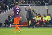 Josep Guardiola coach of Manchester City during the UEFA Champions league, Group F football match between Olympique Lyonnais and Manchester City on November 27, 2018 at Groupama stadium in Decines-Charpieu near Lyon, France - Photo Romain Biard / Isports / ProSportsImages / DPPI