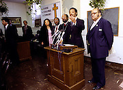 Reverend Jesse Jackson campaigns across the south in his 1984 bid to be the first African American president of the United States. Here, he speaks at Ebenezer Baptist, the home church of Dr. Martin Luther King, Jr.