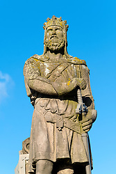 Statue of Robert the Bruce at Stirling Castle , Stirlingshire, Scotland, United Kingdom.