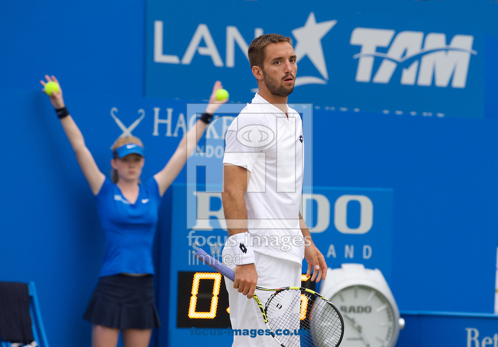 Viktor Troicki of Serbia during his semi-final match against Andy Murray of Great Britain in Aegon Championships at the Queen's Club, West Kensington<br /> Picture by Alan Stanford/Focus Images Ltd +44 7915 056117<br /> 20/06/2015