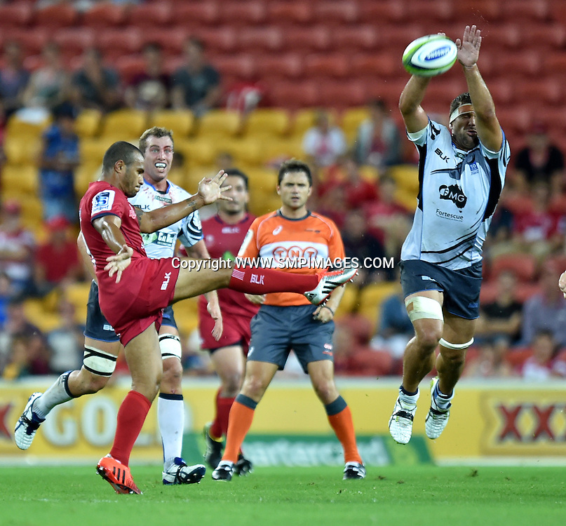 WILL GENIA - QUEENSLAND REDS -  PHOTO: SCOTT DAVIS - SMPIMAGES.COM/PHOTOSPORT - QUEENSLAND REDS V WESTERN FORCE, SUPER RUGBY, 21ST FEBRUARY 2015 - Action from Round 2 of the Super Rugby competition, between the Queensland Reds and the Western Force, being played at  Suncorp Stadium, Brisbane.