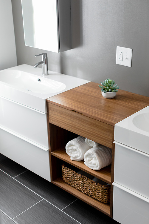 2017 January 06 - A bathroom renovation project at the home of Katie and Justin Kemerling.  Designed by aTom Design Studio.