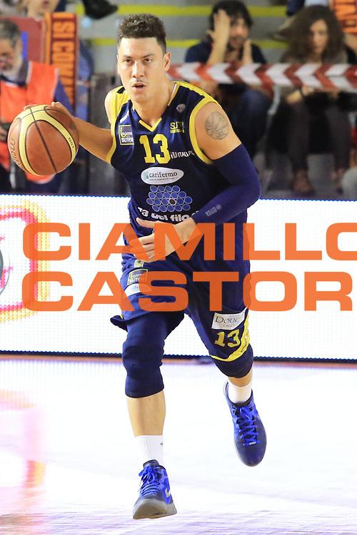 DESCRIZIONE : Roma Lega A 2012-2013 Acea Roma Sutor Montegranaro<br /> GIOCATORE : Di Bella Fabio<br /> CATEGORIA : palleggio <br /> SQUADRA : Sutor Montegranaro<br /> EVENTO : Campionato Lega A 2012-2013 <br /> GARA : Acea Roma Sutor Montegranaro<br /> DATA : 05/05/2013<br /> SPORT : Pallacanestro <br /> AUTORE : Agenzia Ciamillo-Castoria/M.Simoni<br /> Galleria : Lega Basket A 2012-2013  <br /> Fotonotizia : Roma Lega A 2012-2013 Acea Roma Sutor Montegranaro<br /> Predefinita :