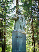 A statue of Karl Marx stands in Grutas Park, near Alytus, Lithuania