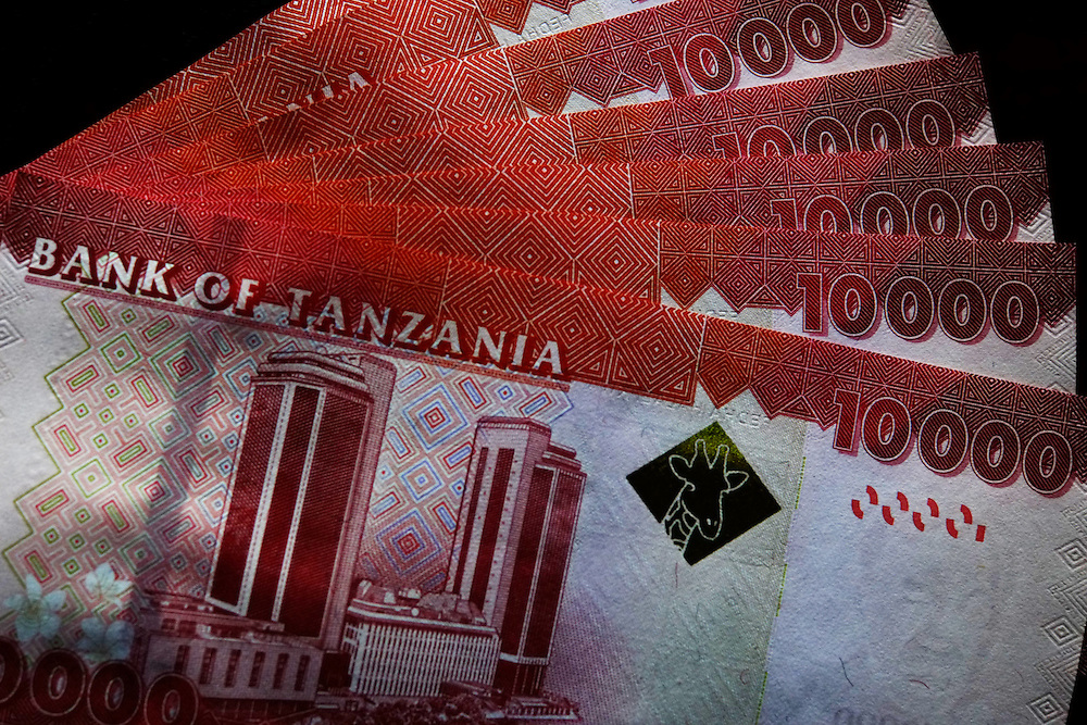 Dar es Salaam, Tanzania - 27SEP14 - Ten thousand Tanzanian shilling notes. Photo by Daniel Hayduk